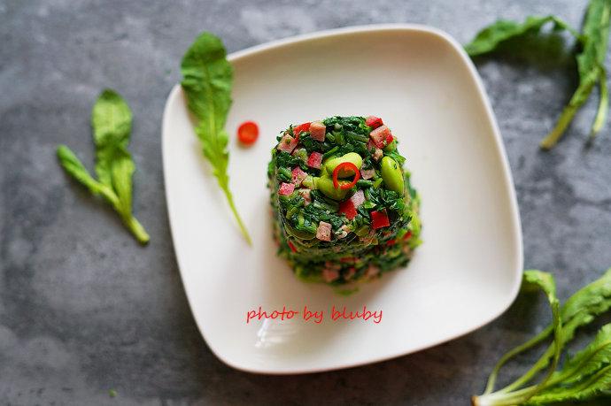 毛豆荠菜塔