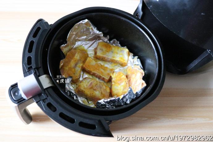 空气炸锅咖喱烤仔排