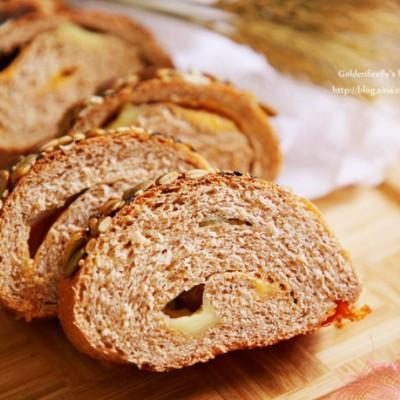 100%全麦谷物芝士面包
