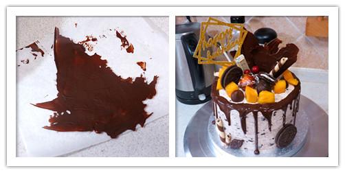 超火ins风滴落蛋糕-奥利奥咸奶油蛋糕