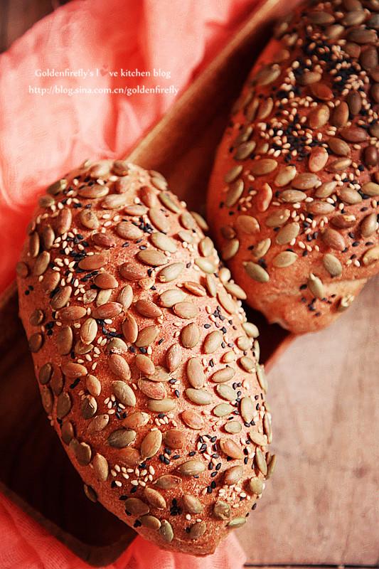 健康好营养100%全麦谷物芝士面包