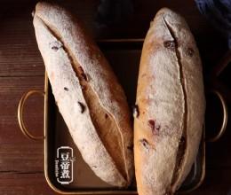 黑麦蔓越莓核桃芝士软欧包