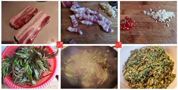香椿拌五花肉