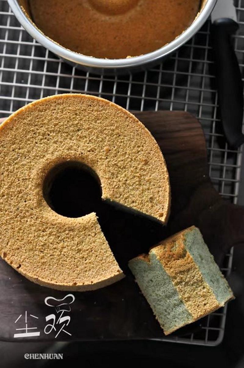 这种蛋糕你肯定没吃过----桑叶戚风