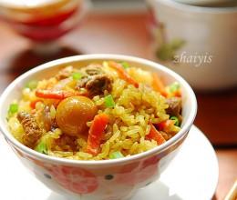 电饭煲咖喱牛肉抓饭