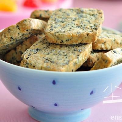 黑芝麻燕麦海苔饼干
