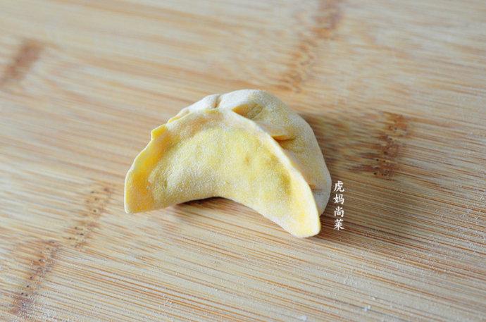 白菜木耳馅素饺子