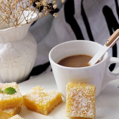 法式小甜点-椰蓉柠檬小方