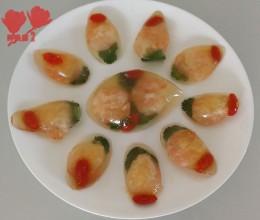 勺羹水晶虾仁