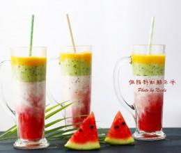 网红爆款饮品-低脂彩虹酷乐冰