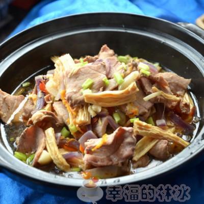 烟熏瘦肉腐竹煲