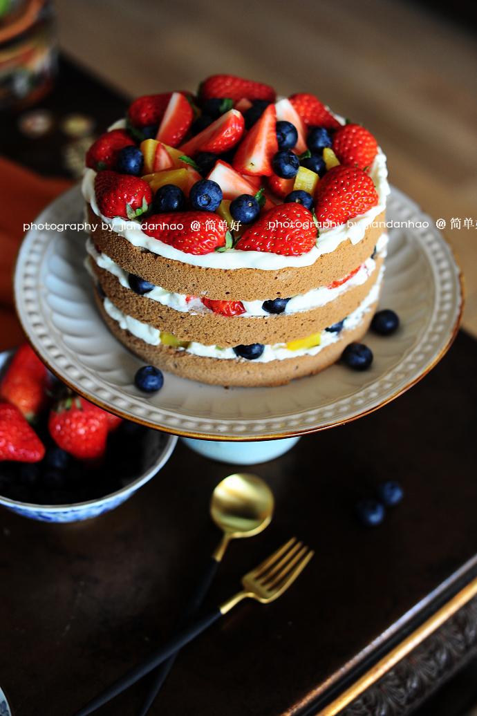 母亲节给老妈做份甜蜜礼物----水果奶油裸蛋糕