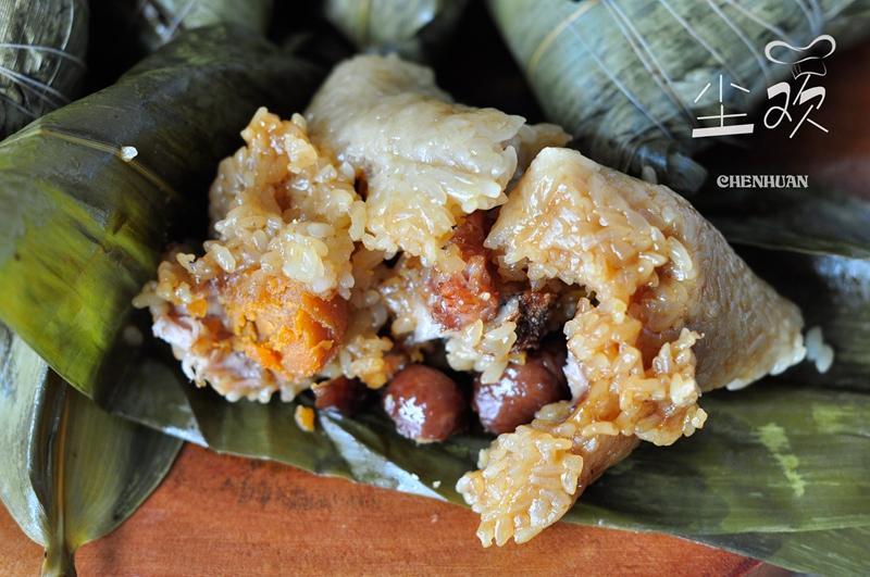 咸蛋黄板栗排骨粽