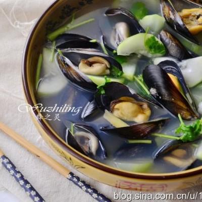 海虹蒲瓜汤