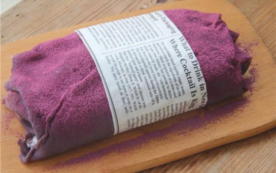 高颜值超惊艳的紫薯毛巾卷