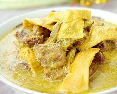 電飯煲食譜-豆筋咖喱雞煲
