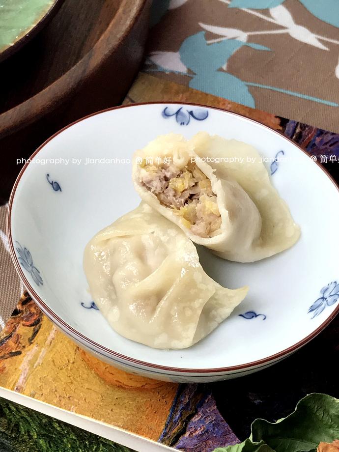 烫面酸菜蒸饺----薄皮大馅儿香香的东北家常面食