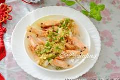 高考食谱-粉丝蒸大虾
