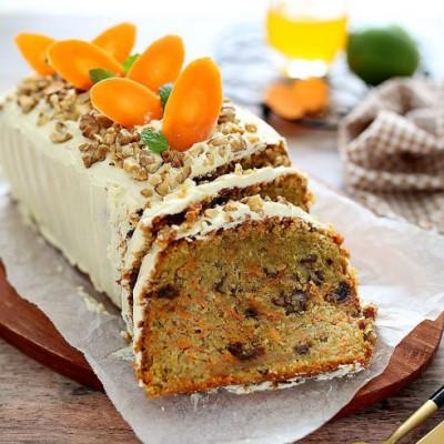 胡萝卜蛋糕:英式传统甜点(老外原版配方.巨好吃)