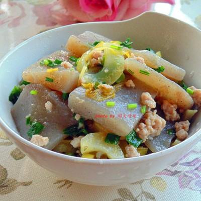 酸菜烧魔芋豆腐
