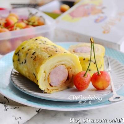 早餐吃什么好-香肠蛋卷
