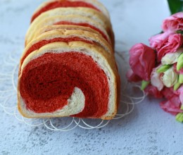 面包机版的渐变色吐司面包