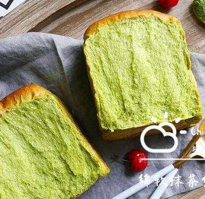 抹茶紅豆吐司面包