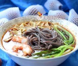 换成颜色好看又营养-酸辣鲜虾紫米线