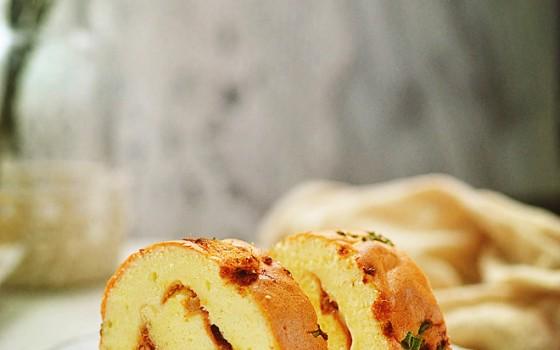 香葱肉松蛋糕卷--甜与咸的完美结合