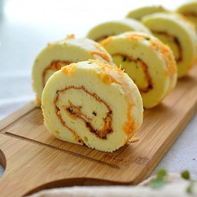 香蔥肉松蛋糕卷