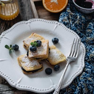 法式蓝莓酱吐司