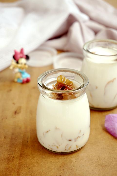 电饭煲玫瑰酸奶