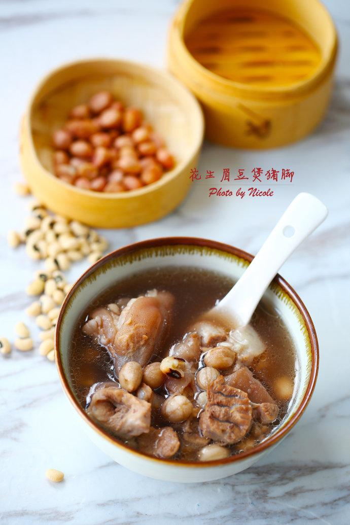 母乳妈妈的滋补汤:花生眉豆煲猪脚