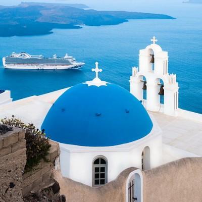 【希腊】悬崖峭壁上蓝与白缱绻的爱恋