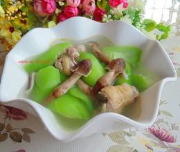 荔枝菌丝瓜土鸡汤