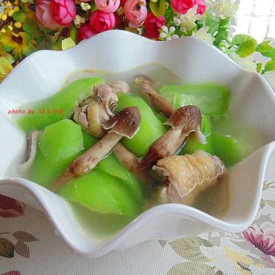 荔枝菌絲瓜土雞湯