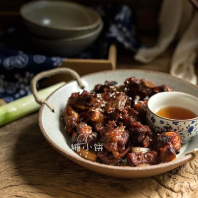 韩式辣酱葱烤排骨