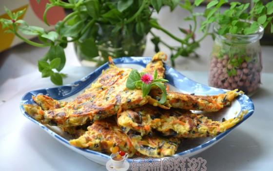 茄丝玉米煎饼