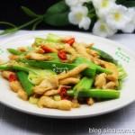 秋葵炒雞胸肉