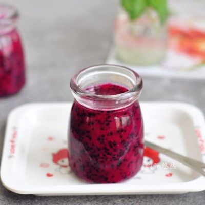 零添加更健康、做法简单无难度的【火龙果果酱】