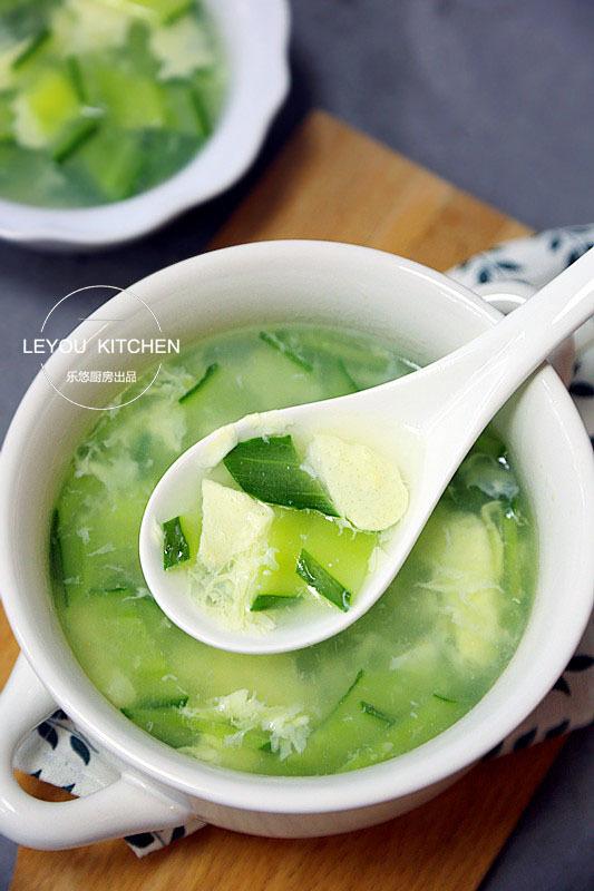 黄瓜蛋花儿汤
