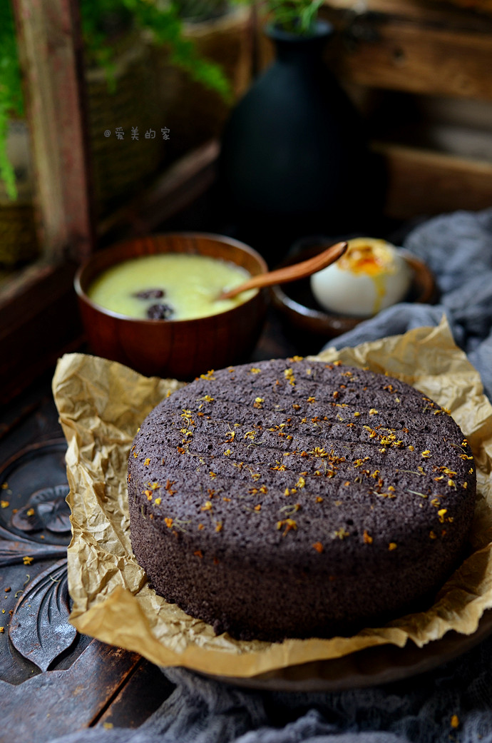 黑米糕--用粗粮做蛋糕更营养更健康