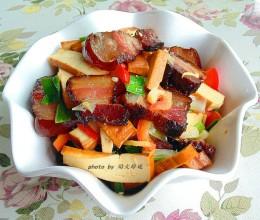 柴火味,下饭菜,肥而不腻【熏肉炒香干】