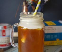 #CoffeeorTea#教你制作网红茶饮-红茶甜橙和伯爵蜜桃马斯卡彭海盐奶盖