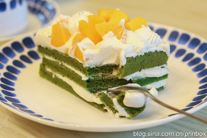 〖烘焙°〗給點顏色就燦爛:黃桃抹茶奶油蛋糕