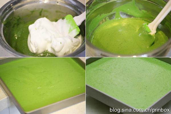 〖烘焙°〗给点颜色就灿烂:黄桃抹茶奶油蛋糕