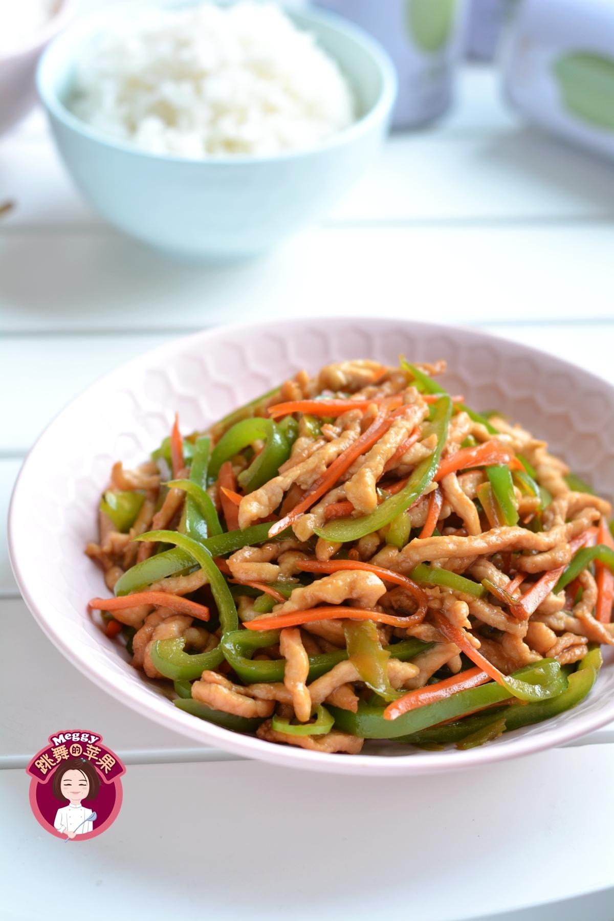 肉丝炒青椒,最好吃的做法,营养健康又下饭,孩子抢着吃!