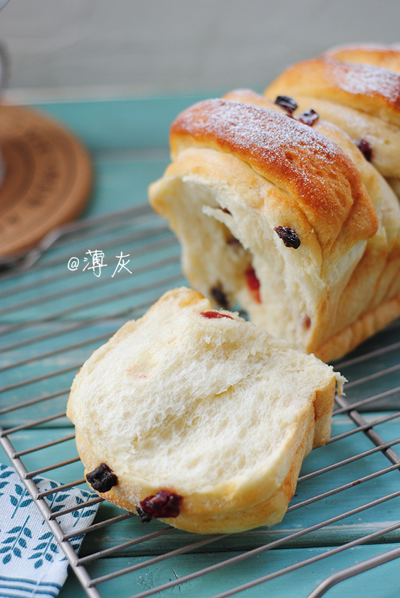 【蔓越莓煉乳手撕吐司】這個面包不辜負每一粒麥子