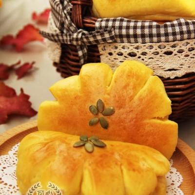 秋色正浓--南瓜葡萄干熊爪包