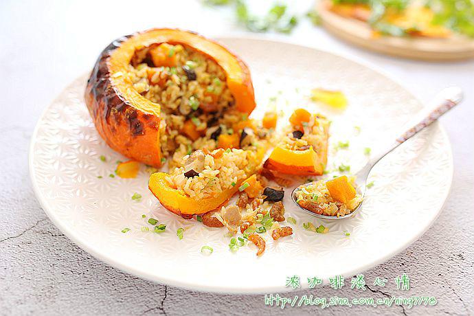 猪肉香菇南瓜饭:秋之风华南瓜俏